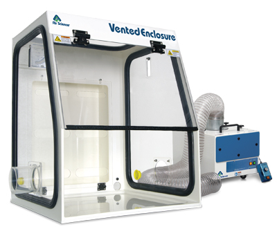 Model VE24T shown with Fume Extractor, Model VE-FES