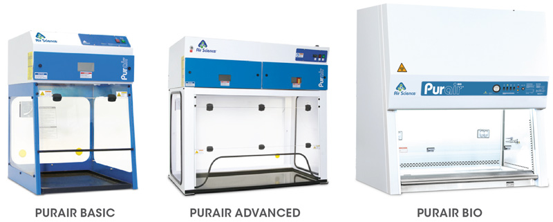 Basic and Advanced ductless fume hoods and BIO BSC