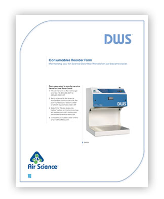 Downflow Workstation Series Consumables Reorder Form pdf download