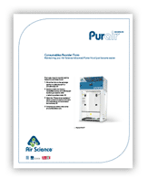 Purair Advanced Ductless Fume Hood Consumables Reorder Form