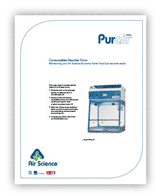 Purair Basic Ductless Fume Hoods Consumables Reorder Form