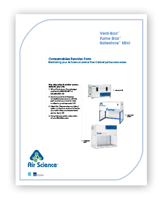 Vent Box Fume Box Safestore Mini Consumables Reorder Form pdf download