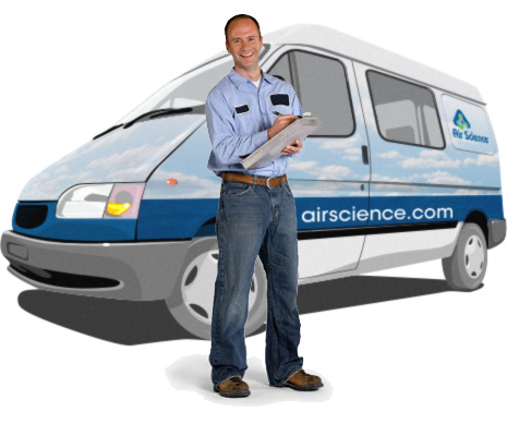 Air Science service van